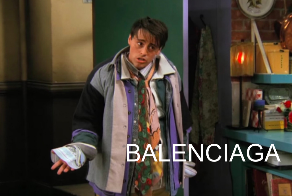 """""""Could I BE wearing anymore clothes!?"""" Balenciaga style"""